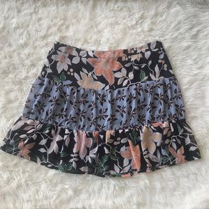 NWT Loft tiered floral skirt. Size 14